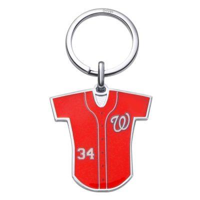 棒球隊服造型客製化噴印鑰匙圈