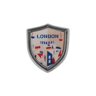 客製化盾牌造型金屬徽章 數位噴印