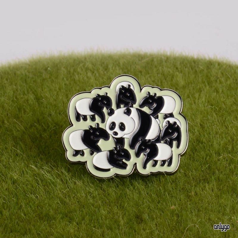 台北市立動物園紀念商品 - 貓熊躲貓貓系列烤漆徽章-馬來貘款